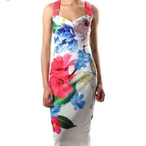 "Ted Baker ""forget me not"" bodycon floral dress"